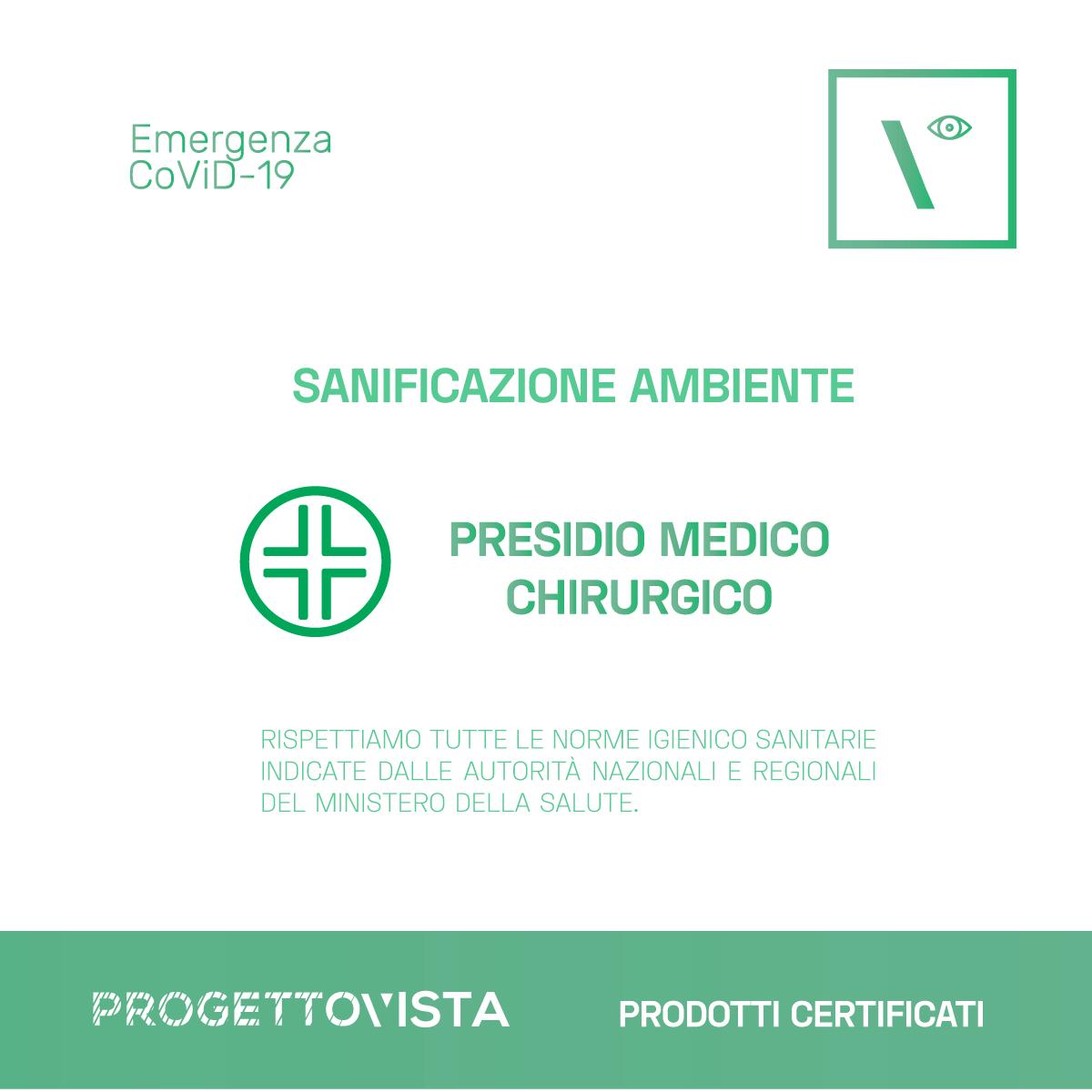 covid 19 Sanificazione ambiente dispositivi certificati progettovista idee per i tuoi occhi